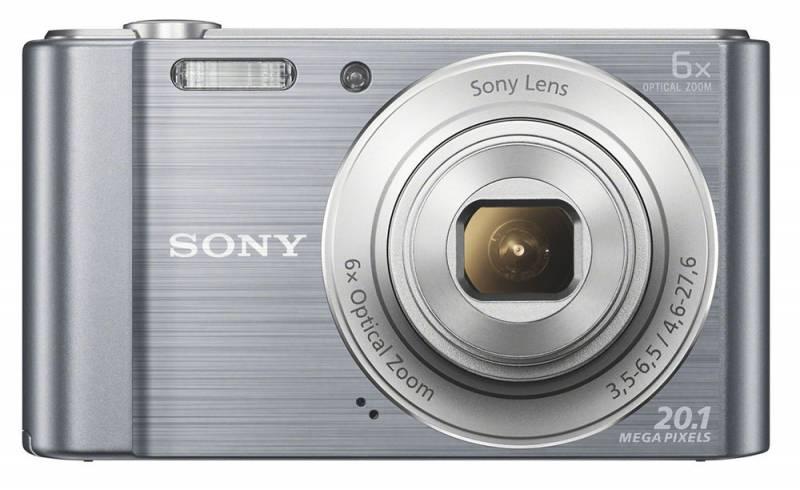"""Sony Cyber-shot DSC-W810 silver 20.4Mpix Zoom5x 2.7"""" 720p SDHC MS Pro Duo Super HAD CCD IS el NP-BN1 DSCW810S.RU3"""