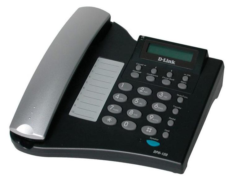 VoIP-оборудование D-Link Телефон IP DPH-120S/F1A черный DPH-120S/F1A