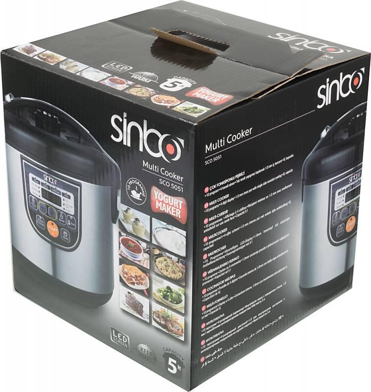 Мультиварка SINBO SCO 5051 5л 700Вт серебристый/черный SCO 5051